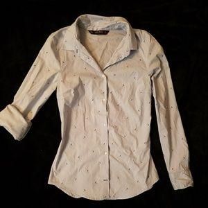Zara button down shirt blue/blue umbrella size (S)